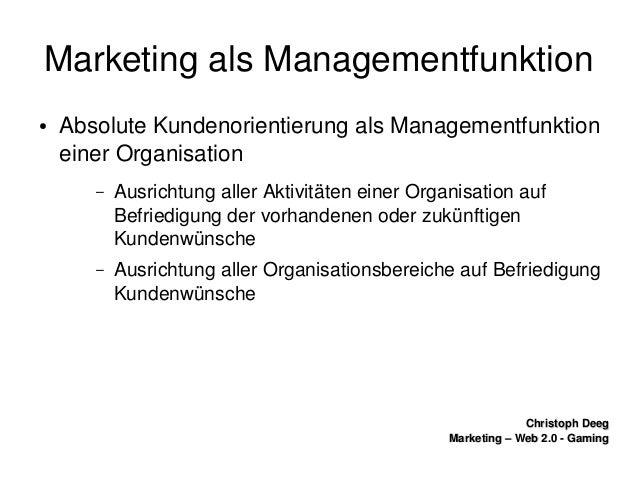 ChristophDeegChristophDeeg Marketing–Web2.0GamingMarketing–Web2.0Gaming MarketingalsManagementfunktion...