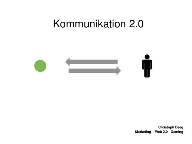ChristophDeegChristophDeeg Marketing–Web2.0GamingMarketing–Web2.0Gaming Kommunikation2.0