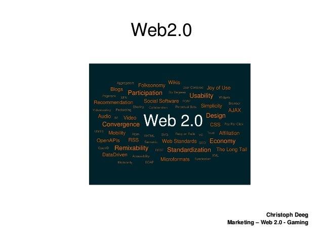 ChristophDeegChristophDeeg Marketing–Web2.0GamingMarketing–Web2.0Gaming Web2.0