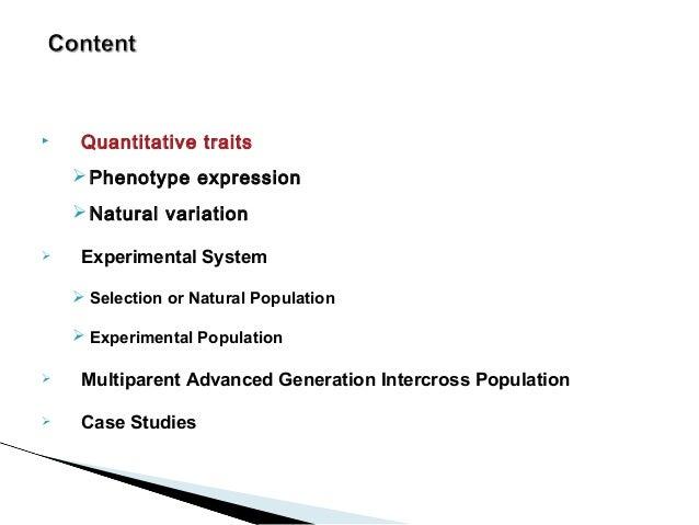 MAGIC :Multiparent advanced generation intercross and  QTL discovery  Slide 2