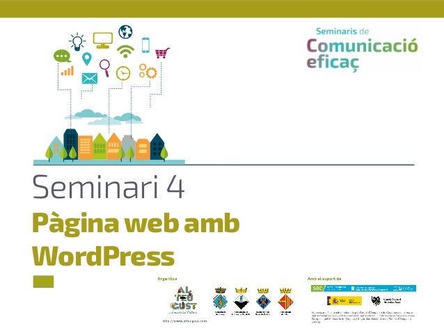 Seminari 4 Pàginaweb amb WordPress
