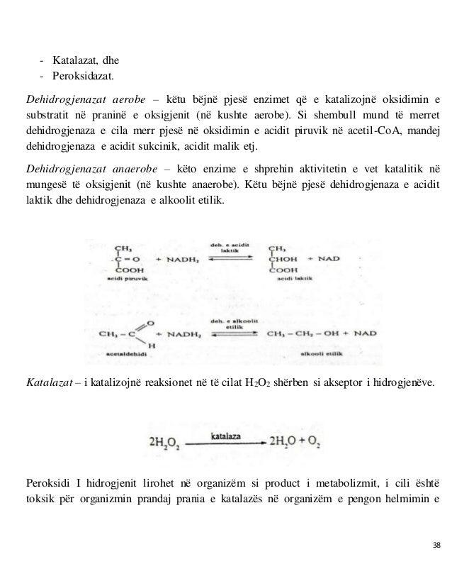 38 - Katalazat, dhe - Peroksidazat. Dehidrogjenazat aerobe – këtu bëjnë pjesë enzimet që e katalizojnë oksidimin e substra...