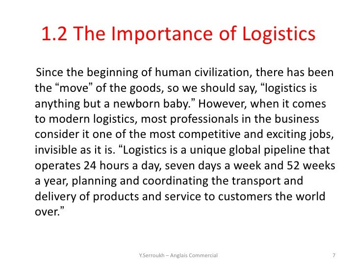 an introduction to logistics and the The concept of a system as an entity in its own right has emerged with increasing force in the past few decades in, for example, the areas of electrical and.