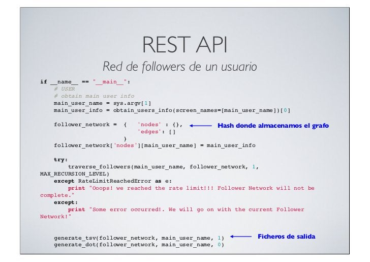 "REST API                 Red de followers de un usuarioif __name__ == ""__main__"":# USER# obtain main user info..."
