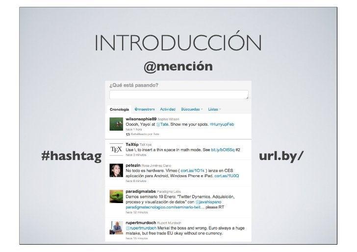 INTRODUCCIÓN           @mención#hashtag              url.by/