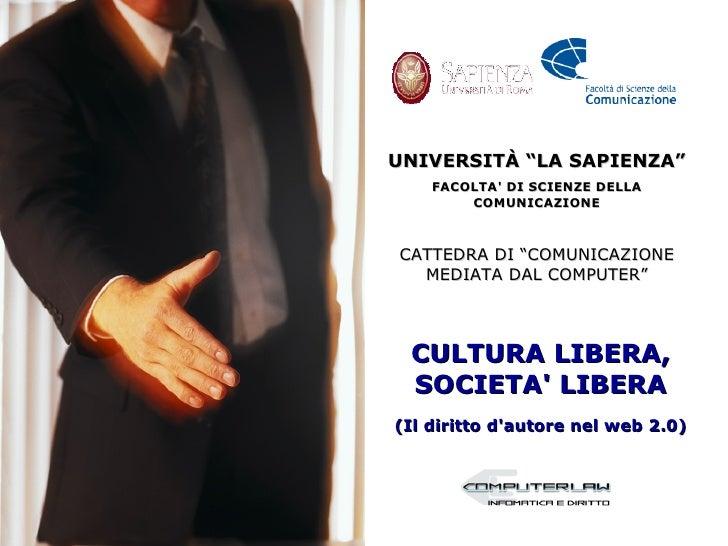 """UNIVERSITÀ """"LA SAPIENZA""""     FACOLTA' DI SCIENZE DELLA         COMUNICAZIONE    CATTEDRA DI """"COMUNICAZIONE   MEDIATA DAL C..."""