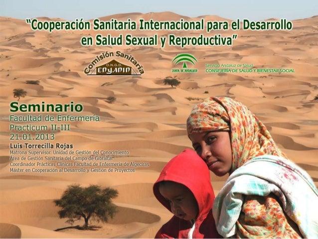 Seminario Cooperación Internacional al Desarrollo en Salud Sexual y Reproductiva