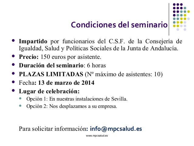 Seminario administraci n sanitaria de la junta de andaluc a sspa - Pisos de la junta de andalucia ...