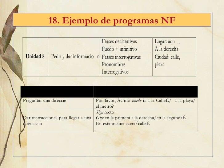 18. Ejemplo de programas NF