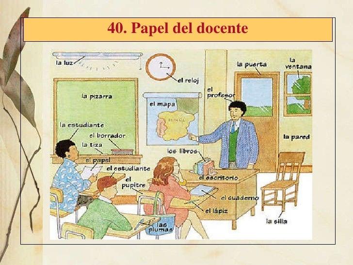 40. Papel del docente