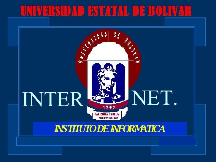 INSTITUTO DE INFORMATICA  INTER NET.