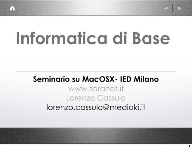 Seminario MacOSX
