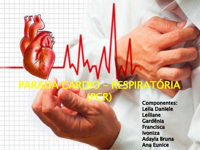 PARADA CARDIO – RESPIRATÓRIA (PCR) Componentes: Leila Daniele Leiliane Gardênia Francisca Ivoniza Adayla Bruna Ana Eunice