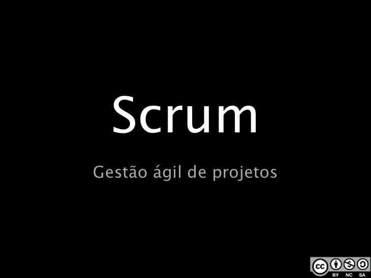 Scrum Gestão ágil de projetos