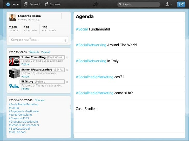 Leonardo Rescia                    Agenda                                         #Social Fundamental                     ...