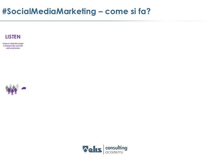 #SocialMediaMarketing – COMPRENDILISTEN   UNDERSTAND                      creare                           comunicare     ...