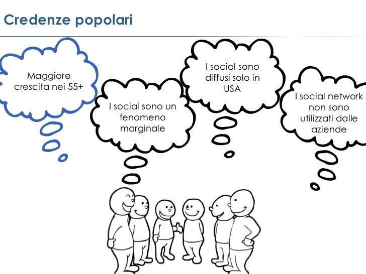 Credenze popolari                                      I social sono    Maggiore                          diffusi solo in ...