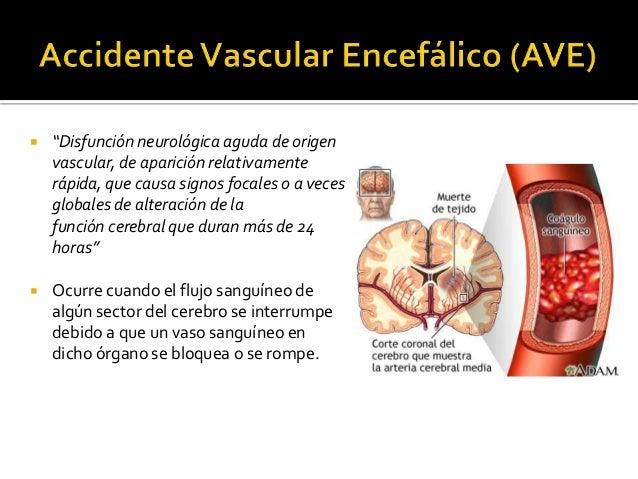 """ """"Disfunción neurológica aguda de origen vascular, de aparición relativamente rápida, que causa signos focales o a veces ..."""