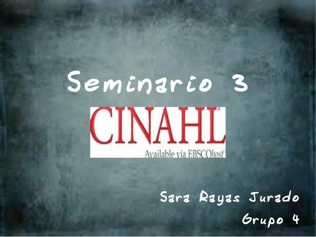 Seminario 3     Sara Rayas Jurado              Grupo 4
