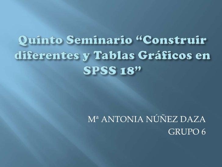 Mª ANTONIA NÚÑEZ DAZA              GRUPO 6