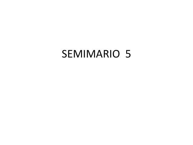 SEMIMARIO 5