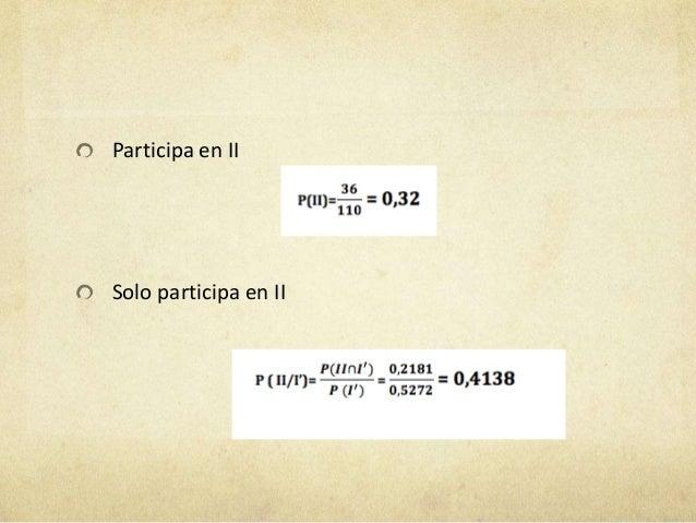 Participa, a la vez, en I y II