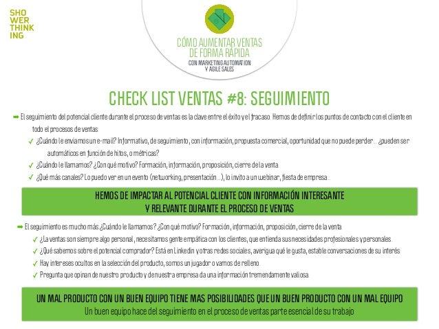 Sales ScrumCÓMO AUMENTAR VENTAS DE FORMA RÁPIDA CON MARKETING AUTOMATION Y AGILE SALES