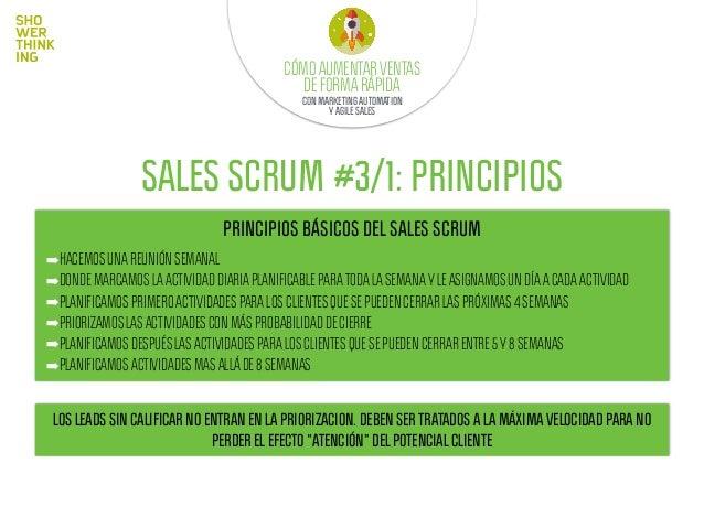 SALES SCRUM #3/2: PRINCIPIOS DIVIDE TU TIEMPO EN VEZ DE SALTAR DE UNA TAREA A OTRA, ES MEJOR TRABAJAR POR BLOQUES: LLAMADA...