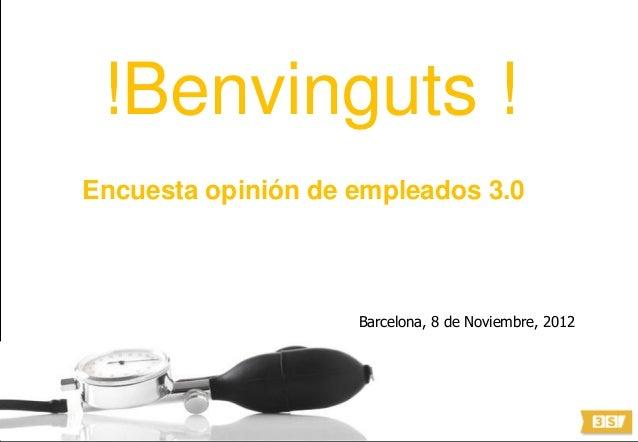 © 3S Smart Strategy Solutions 2011. All rights reserved.!Benvinguts !Encuesta opinión de empleados 3.0Barcelona, 8 de Novi...