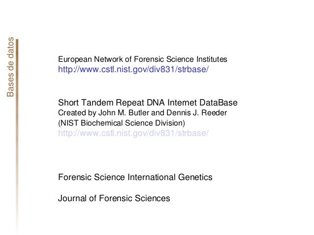 Basesdedatospoblacionales ENFSIDNAWGPopulationDatabase EuropeanNetworkofForensicScienceInstitutes http://w...
