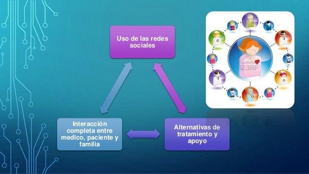 Uso de las redes sociales  Interacción completa entre medico, paciente y familia  Alternativas de tratamiento y apoyo
