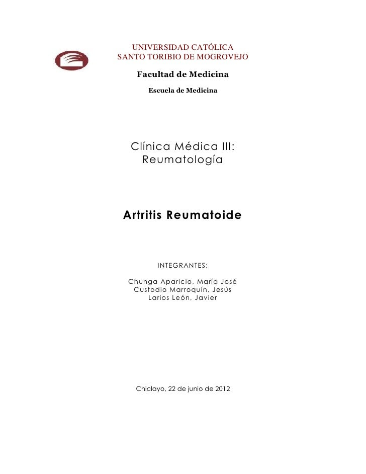 UNIVERSIDAD CATÓLICASANTO TORIBIO DE MOGROVEJO    Facultad de Medicina       Escuela de Medicina  Clínica Médica III:    R...