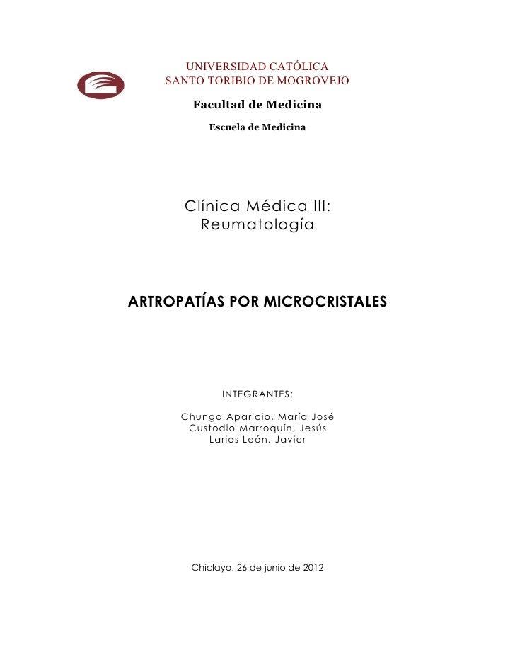 UNIVERSIDAD CATÓLICA    SANTO TORIBIO DE MOGROVEJO        Facultad de Medicina          Escuela de Medicina      Clínica M...