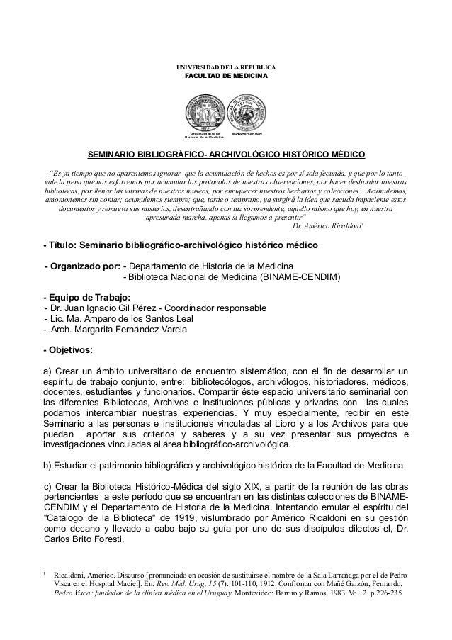 UNIVERSIDAD DE LA REPUBLICA                                             FACULTAD DE MEDICINA                              ...