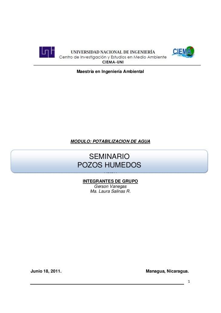 Maestría en Ingeniería Ambiental                  MODULO: POTABI...