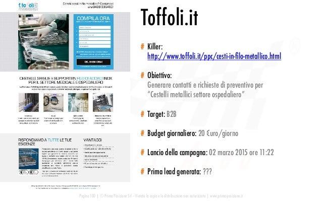 Pagina 100   © Prima Posizione Srl – Vietata la copia e la distribuzione non autorizzata   www.prima-posizione.it Toffoli....