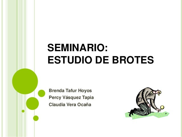 SEMINARIO: ESTUDIO DE BROTES Brenda Tafur Hoyos Percy Vásquez Tapia Claudia Vera Ocaña