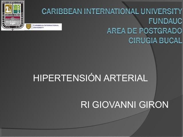 HIPERTENSIÓN ARTERIAL RI GIOVANNI GIRON