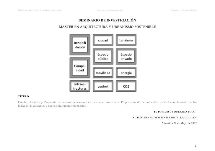 Master Arquitectura y Urbanismo Sostenible                        ...