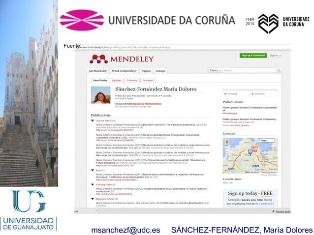 msanchezf@udc.es SÁNCHEZ-FERNÁNDEZ, María Dolores Fuente: