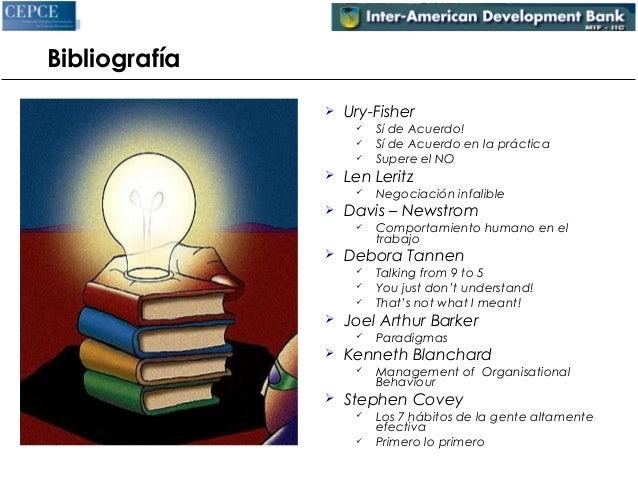 Bibliografía   Ury-Fisher   Sí de Acuerdo!   Sí de Acuerdo en la práctica   Supere el NO   Len Leritz   Negociación ...