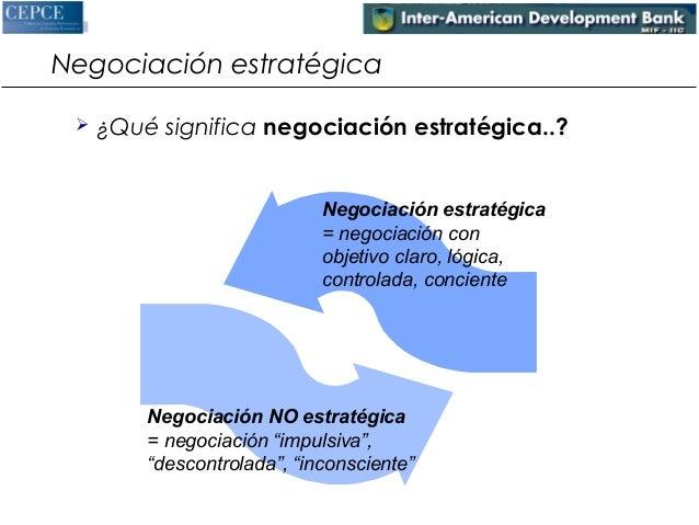 Negociación estratégica   ¿Qué significa negociación estratégica..?  Negociación estratégica  = negociación con  objetivo...