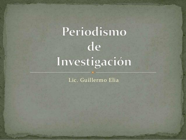 Lic. Guillermo Elia