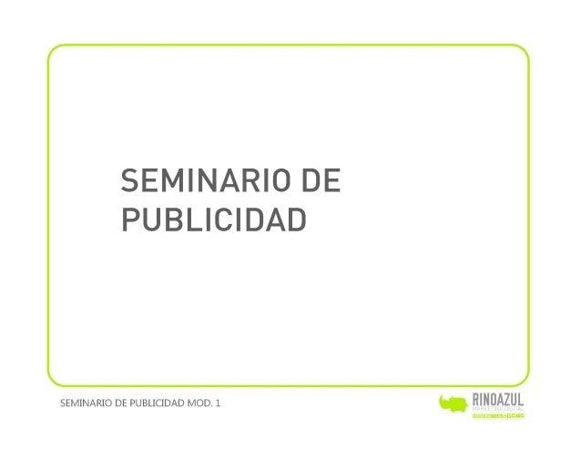 Seminario de publicidad