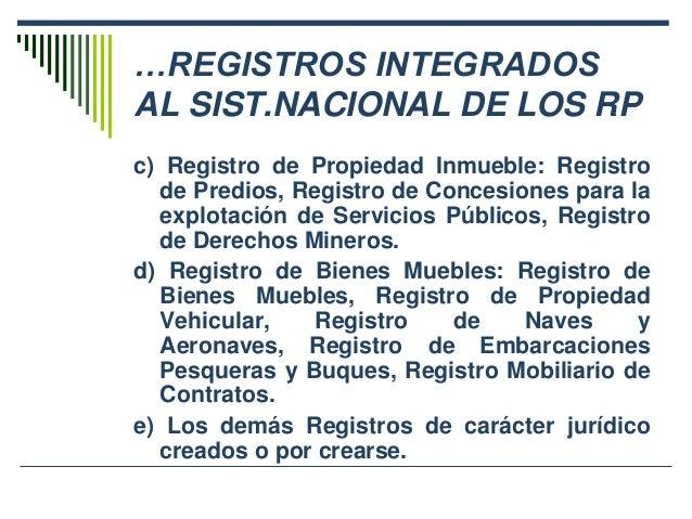 Seminario derecho registral parte1 - Registro mercantil de bienes muebles ...
