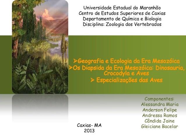 Universidade Estadual do Maranhão Centro de Estudos Superiores de Caxias Departamento de Química e Biologia Disciplina: Zo...