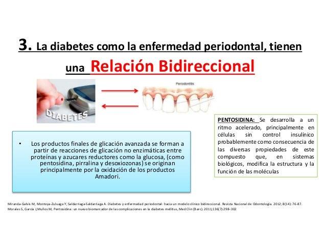 relación de diabetes con enfermedad periodontal