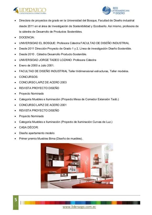 Seminario dise o decoraci n de interiores agosto 2013 for Muebles bima