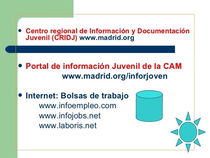 Seminario empleo for Portal empleo madrid