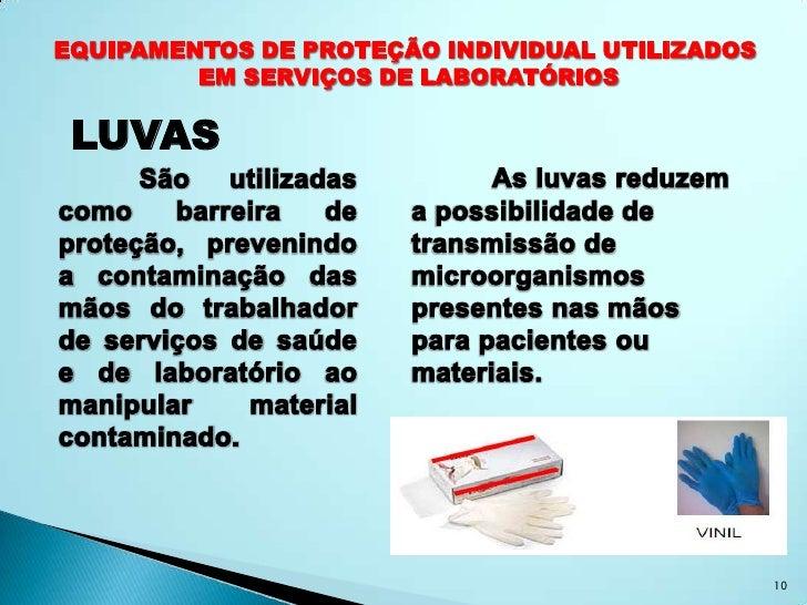 Equipamentos de proteção individual em laboratorio